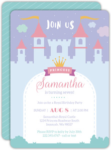 Whimsical Princess Castle Birthday Invitation
