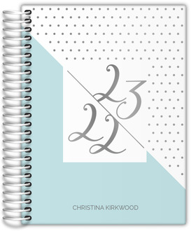 Clean Polka Dot Real Foil Teacher Planner