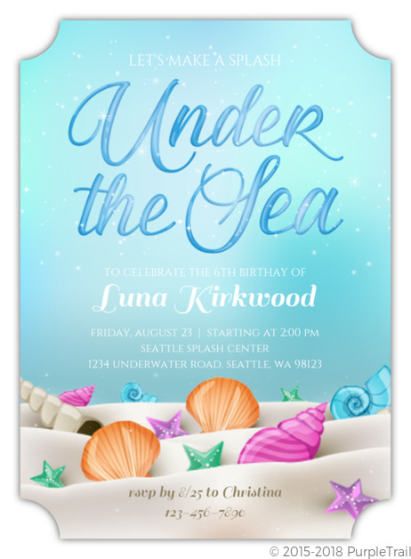 Whimsical Under The Sea Birthday Invitation