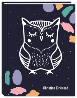 Brush Strokes Owl Daily Sewn Planner