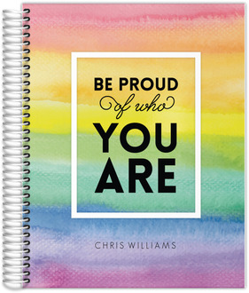 Watercolor Rainbow Be Proud Daily Planner