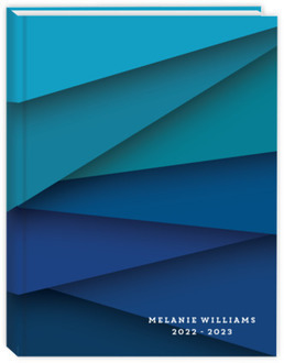Blue Ombre Abstract Student Planner