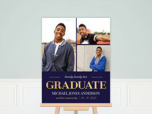 Navy and Gold Graduation Poster