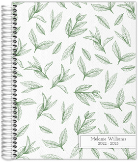 Green Tea Leaves Daily Planner