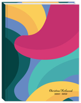 Bold Bubble Shapes Student Planner