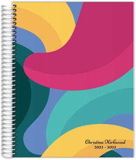 Bold Bubble Shapes Daily Planner