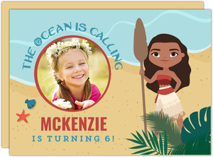The Ocean Is Calling Birthday Party Invitation