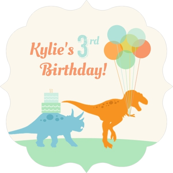 Colorful dinosaurs and balloons kids birthday party invitation colorful dinosaurs and balloons kids birthday party invitation stopboris Gallery
