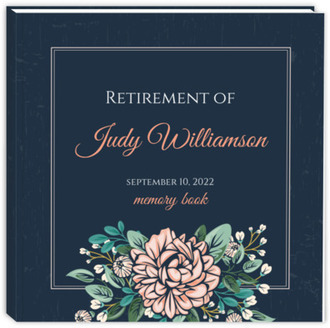 Vintage Pink Peony Retirement Guest Book