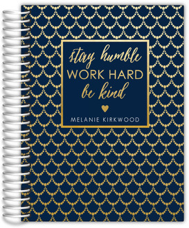Faux Gold Foil Beaded Pattern Weekly Planner