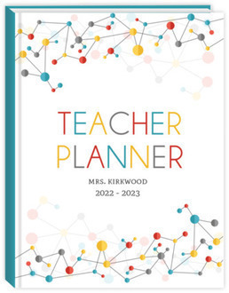 Colorful Molecules Teacher Planner