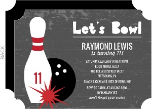 Sports party invitations charcoal lets bowl kids birthday invitation filmwisefo Image collections