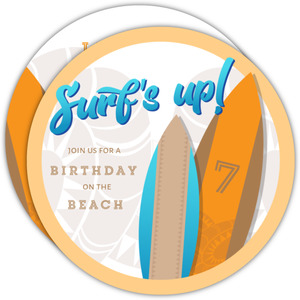 Surf's Up! Beach Party Birthday Invitations