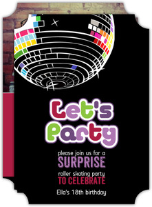 Disco Ball Surprise Party Invitation