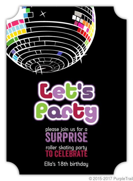 Disco Ball Surprise Party Invitation
