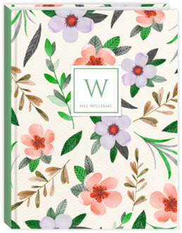 Simple Watercolor Floral Wedding Journal