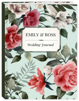 Vintage Mint Botanical Wedding Journal