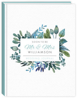 Elegant Turquoise Foliage Wedding Journal