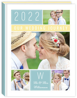 Colorful Photo Grid Collage Wedding Journal