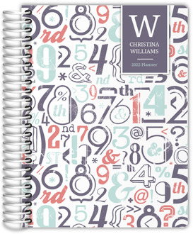 Pink Number Pattern Student Planner