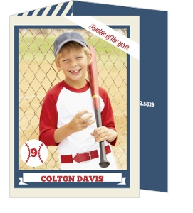 Rookie Of The Year Trading Card Baseball Party Invitation