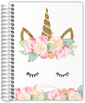 Floral Unicorn Daily Planner