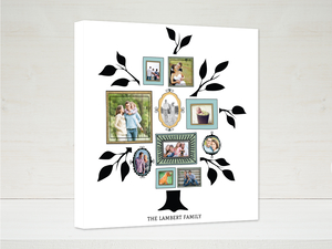 Vintage Frames Family Tree Canvas Print