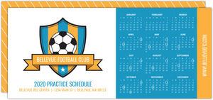 Soccer League Calendar Card