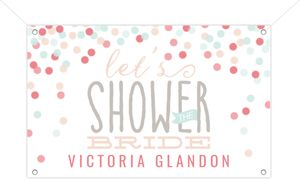 Cute Confetti Bridal Shower Banner