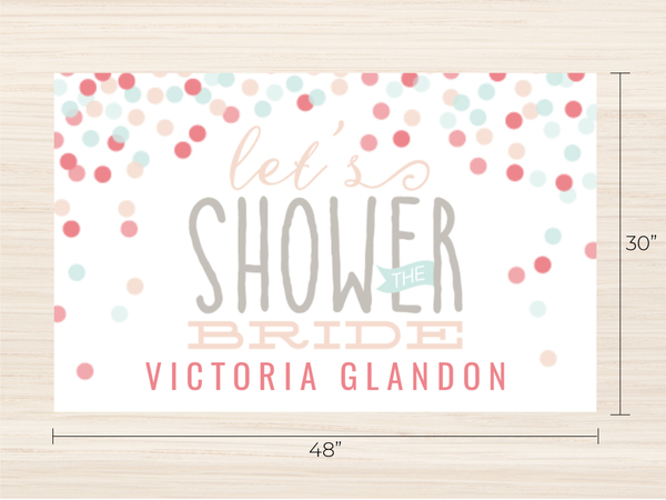cute confetti bridal shower banner banner prints