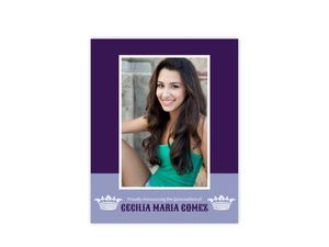 Purple And White Crown Photo Quinceanera Poster