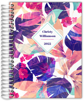 Bright Colorful Tropical Foliage Mom Planner
