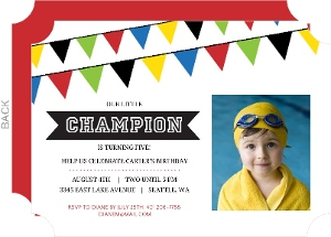 Little Champion Kids Birthday Party Invite