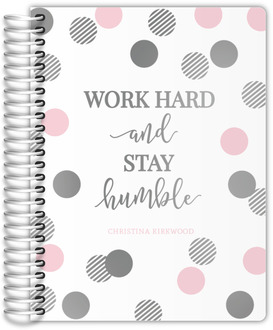 Striped Polka Dot Real Foil Weekly Planner