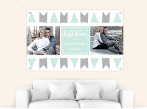 Soft Buntings Bridal Shower Party Banner