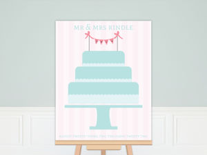Simple and Sweet Wedding Guest Sign Poster Print