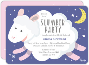Counting Sheep Slumber Party Birthday Invitation
