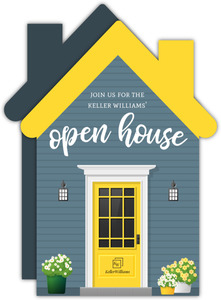 Modern Yellow Door Open House Invitation