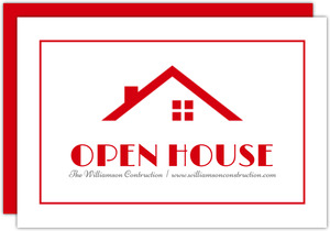 Modern Roof Open House Invitation
