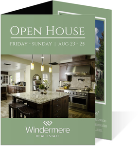 Modern Real Estate Open House Invitation