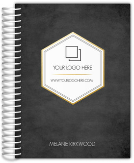 Faux Gold Foil Hexagon Content Planner