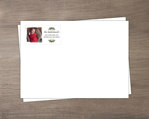 Rustic Pinecone Photo Envelope