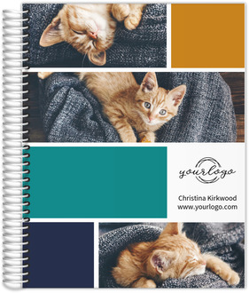 Modern Striped Photo Collage Content Planner