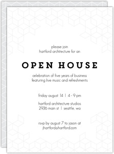 Modern Cubic Business Open House Invitation