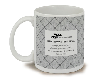 Diamond Print Business Mug