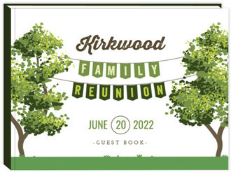 Green Hanging Banner Family Reunion Guest Book