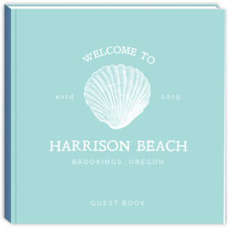 Vintage Shell Vacation Home Guest Book