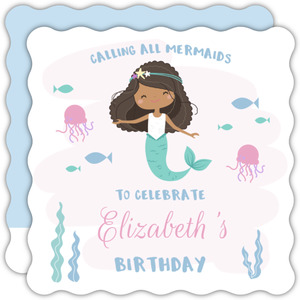 Calling All Mermaids Birthday Party Invitation