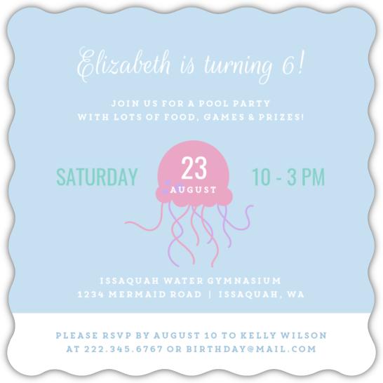 Calling All Mermaids Birthday Party Invitation