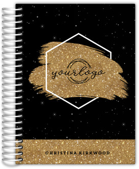 Sparkly Faux Gold Glitter Content Planner